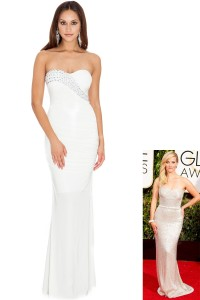 Diamante Glam Evening Maxi Dress at Goddiva